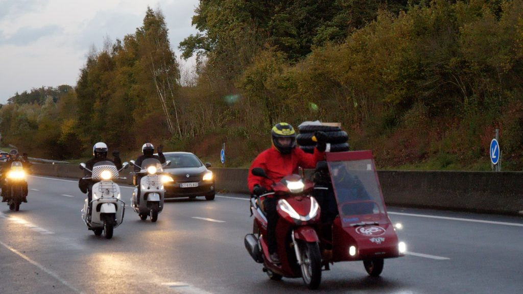 London to Paris convoy.