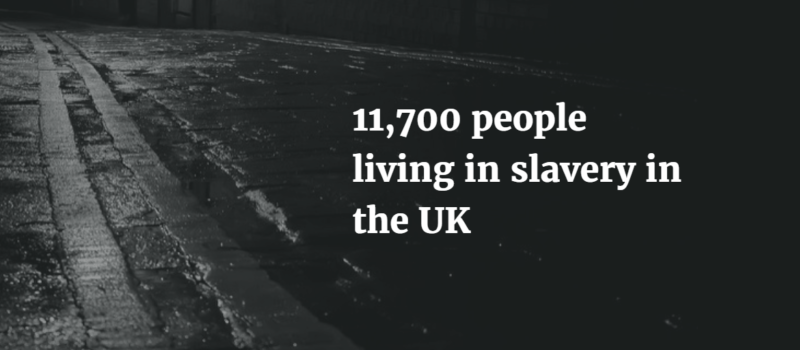 11,700 people living in slavery in the UK.